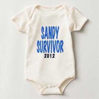 SANDY SURVIVOR 2012, lt. blue, Sandy survivor gift Bodysuit