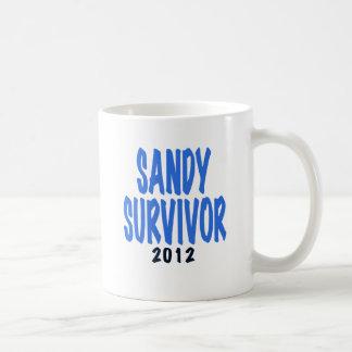 SANDY SURVIVOR 2012, lt. blue, Sandy survivor gift Coffee Mugs