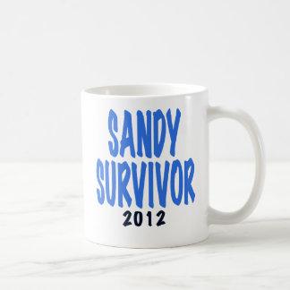 SANDY SURVIVOR 2012, lt. blue, Sandy survivor gift Mugs