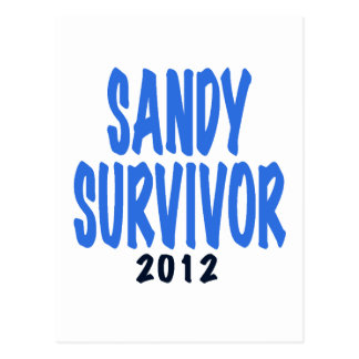 SANDY SURVIVOR 2012, lt. blue, Sandy survivor gift Postcard