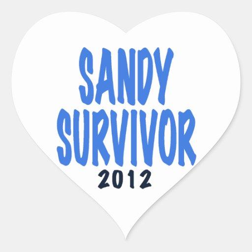 SANDY SURVIVOR 2012, lt. blue, Sandy survivor gift Stickers