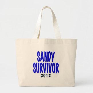 SANDY SURVIVOR 2012, Sandy survivor gifts Canvas Bags