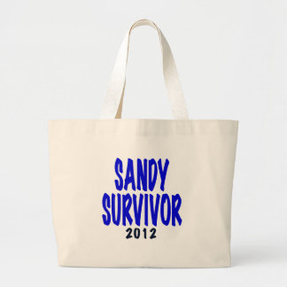 SANDY SURVIVOR 2012, Sandy survivor gifts Large Tote Bag