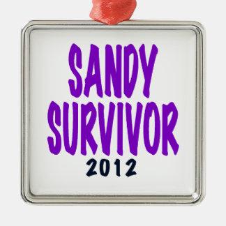 SANDY SURVIVOR 2012, Sandy survivor gifts Christmas Tree Ornaments