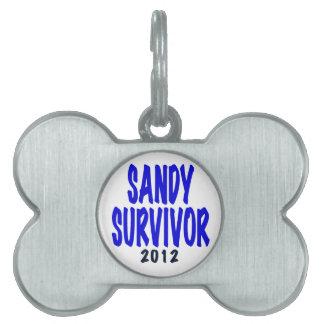 SANDY SURVIVOR 2012, Sandy survivor gifts Pet Name Tag