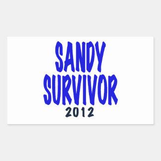 SANDY SURVIVOR 2012, Sandy survivor gifts Rectangular Sticker
