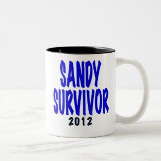 SANDY SURVIVOR 2012, Sandy survivor gifts Two-Tone Coffee Mug