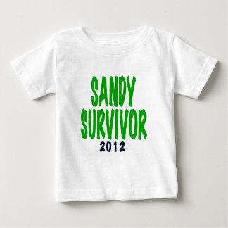 SANDY SURVIVOR, green, Sandy survivor gifts Baby T-Shirt