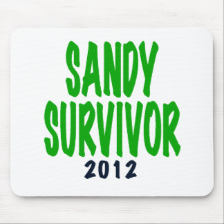 SANDY SURVIVOR, green, Sandy survivor gifts Mouse Pad