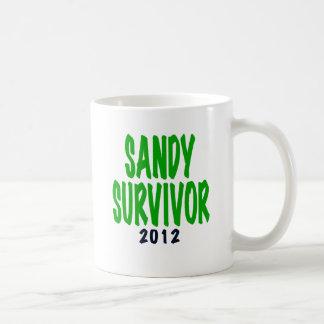 SANDY SURVIVOR, green, Sandy survivor gifts Classic White Coffee Mug