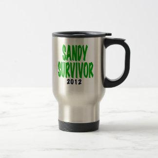 SANDY SURVIVOR, green, Sandy survivor gifts Travel Mug