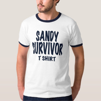 """SANDY SURVIVOR T SHIRT"", Hurricane Sandy gift T-Shirt"