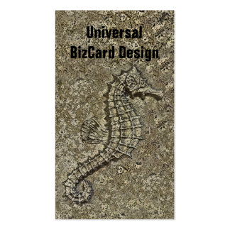 Sandy Textured Seahorse Photograph Double-Sided Standard Business Cards (Pack Of 100)