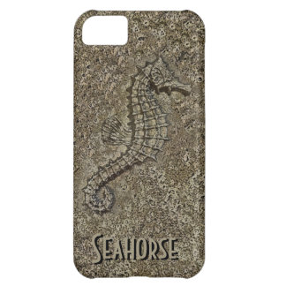Sandy Textured Seahorse Photograph Cover For iPhone 5C