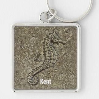 Sandy Textured Seahorse Photograph Keychain