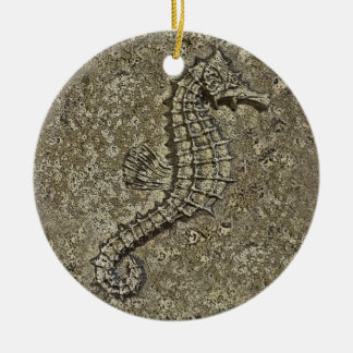 Sandy Textured Seahorse Photograph Ornaments