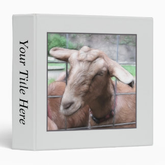 Sandy The Goat At The Gate 3 Ring Binder