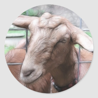 Sandy The Goat At The Gate Classic Round Sticker