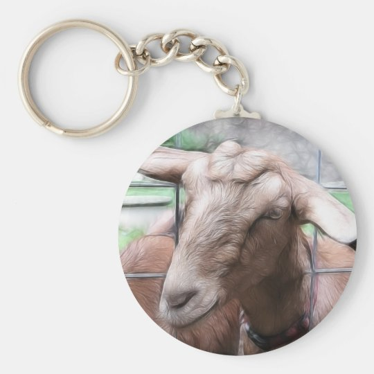 Sandy The Goat At The Gate Keychain