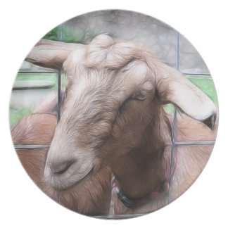 Sandy The Goat At The Gate Melamine Plate