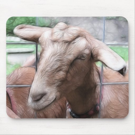Sandy The Goat At The Gate Mouse Pad