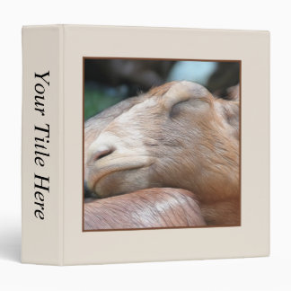 Sandy The Goat - Nap Time! 3 Ring Binder