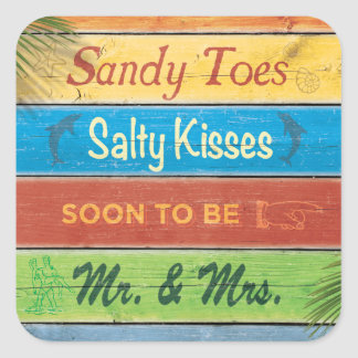 Sandy toca con la punta del pie al pegatina salado