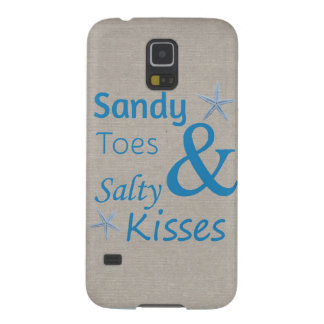 Sandy Toes and Salty Kisses Beach Life Quote Case For Galaxy S5