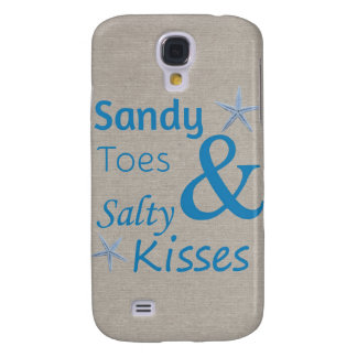 Sandy Toes and Salty Kisses Beach Life Quote Galaxy S4 Case