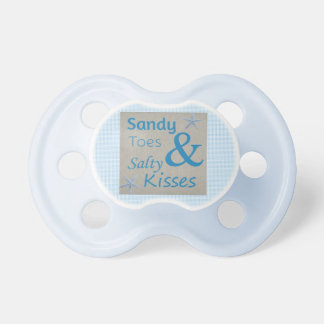 Sandy Toes and Salty Kisses Beach Life Quote Pacifier