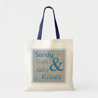 Sandy Toes and Salty Kisses Beach Life Quote Tote Bag