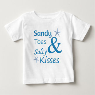 Sandy Toes and Salty Kisses Beach Life Quote T-shirts