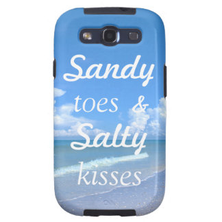 Sandy Toes And Salty Kisses Samsung Galaxy SIII Cases