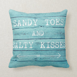 Sandy toes and Salty Kisses pillow