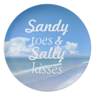 Sandy Toes And Salty Kisses Party Plates