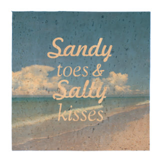 Sandy Toes And Salty Kisses Drink Coaster