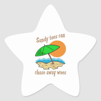 SANDY TOES CHASE WOES STAR STICKER