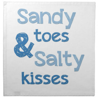 Sandy Toes Salty Kisses Cloth Napkin