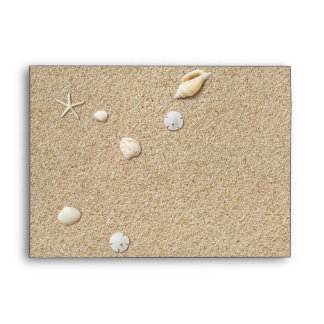 Sandy Toes Salty Kisses Invitation Envelope