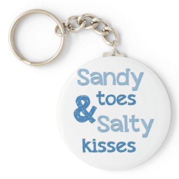RusticHarbor Sandy Toes Salty Kisses Keychain