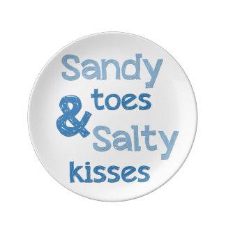 Sandy Toes & Salty Kisses Porcelain Plates