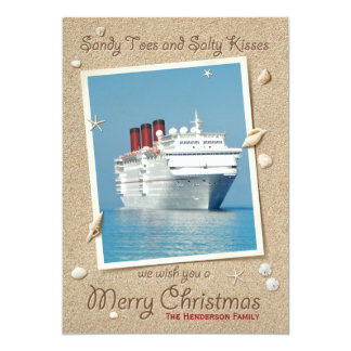 Sandy Toes Salty Kisses Merry Christmas Card