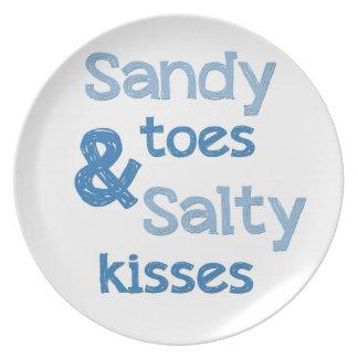 Sandy Toes Salty Kisses Dinner Plates