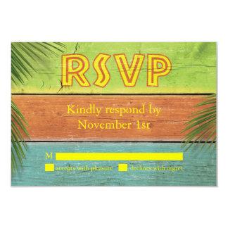 Sandy Toes Salty Kisses RSVP Card