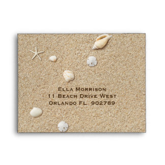 Sandy Toes Salty Kisses RSVP Envelope