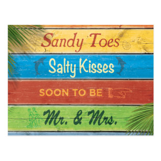 Sandy Toes Salty Kisses Save the Date Postcard