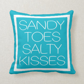 Sandy Toes Salty Kisses Throw Pillow