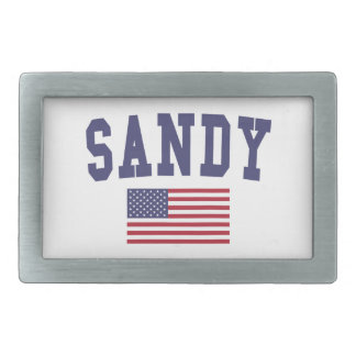 Sandy US Flag Rectangular Belt Buckle