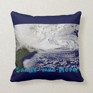 Sandy was Here! Throw Pillow