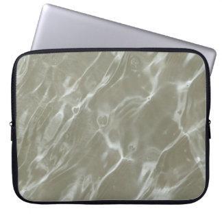 Sandy Water Ripples Neoprene Laptop Sleeve